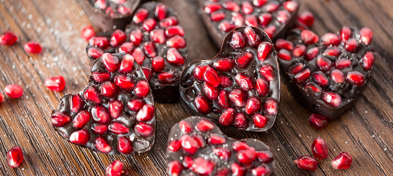 Chocolate Pomegranate Salty Bites By Taste Flavors