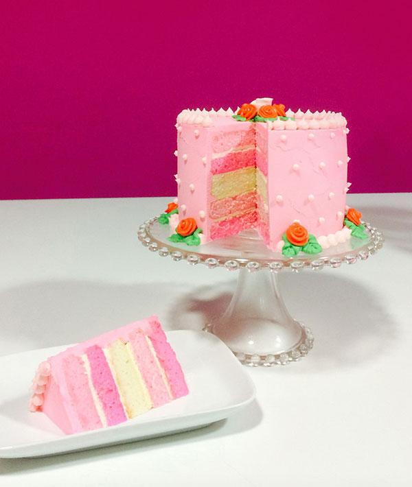 Pink Rainbow Cake Taste Amp Flavors