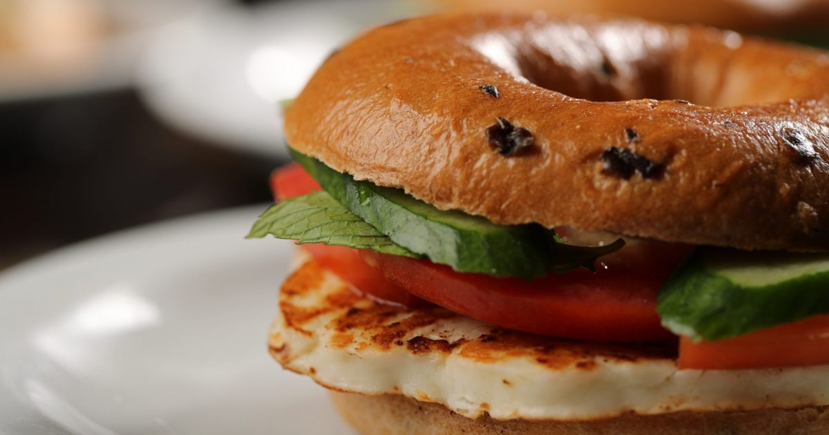 CAFE YOUNES Grilled Halloum Bagel