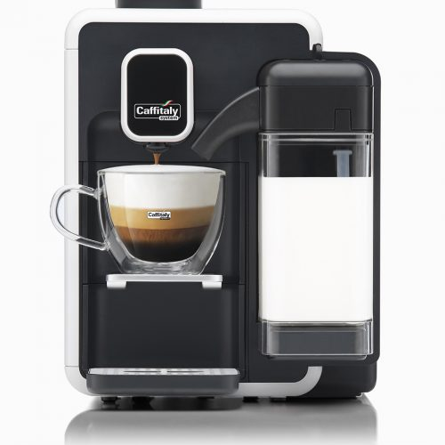 Caffitaly Bianca S22_White_and_Black_coffee cappuccino machine
